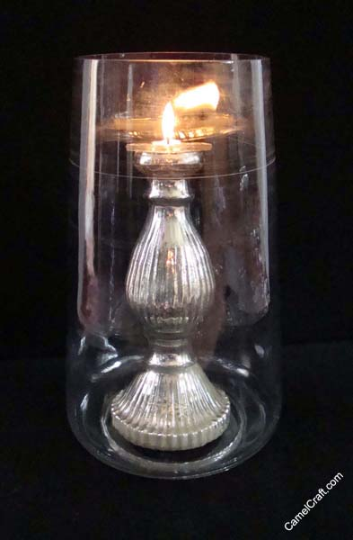 Ferozabad Glass candle holder, India