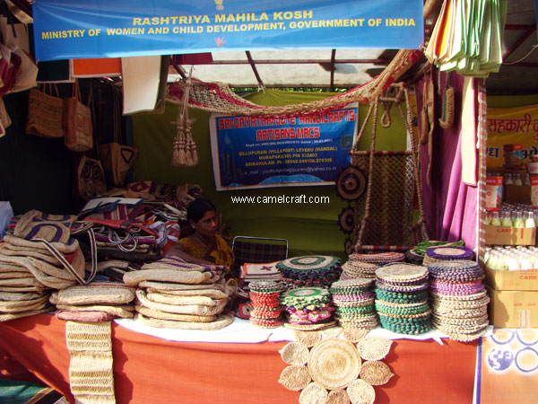 Jute Crafts Manufacturer exhibited their products at Dillihaat at Delhi