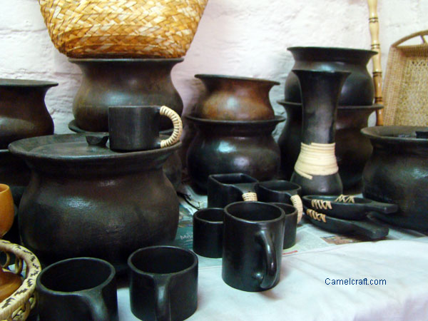 Pottery Manipur, India, this is black pottery traditional utility item used in tribal area Manipur, North Eastern state of India