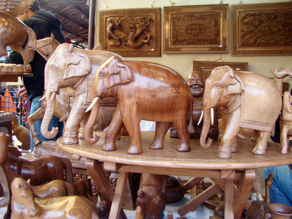 wallnut wood crafts, elephant
