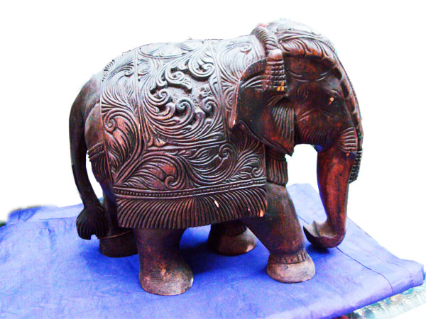 Wood Carving elephant, hyderabad in Andhrapradesh, India